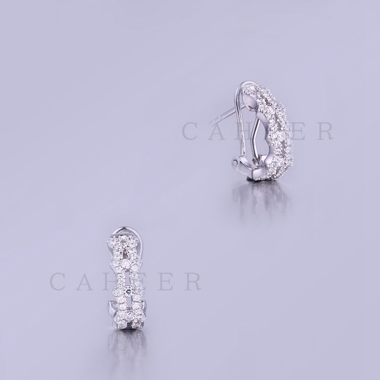 Hot Sale 925 Sterling Silver Earrings Beautiful Jewelry For Women K0009E