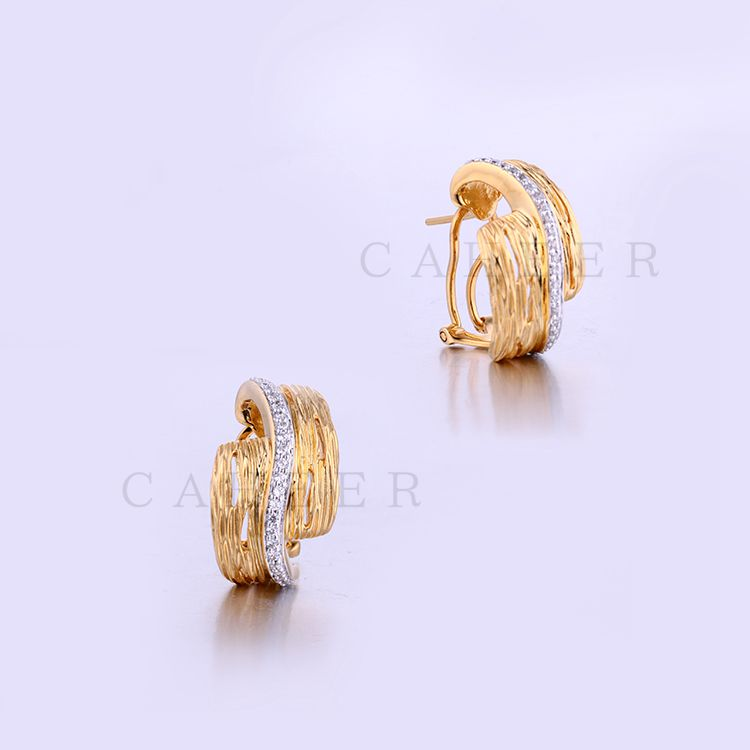 New Designs Gold Earring Zircon 24k Gold Plated Earring K0013E