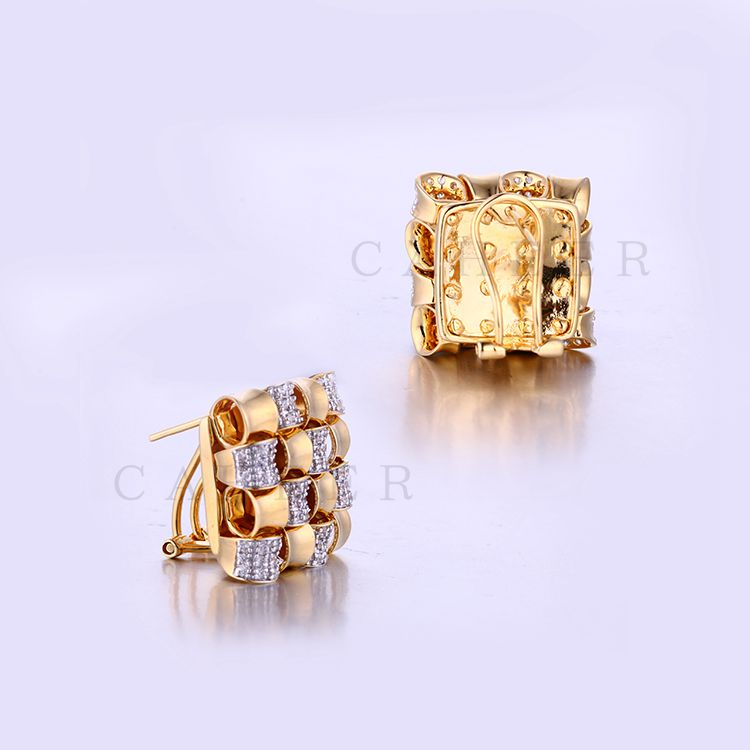 New Style Gold Jewelry AAA CZ Stone 18K Gold Plated Earring K0028E