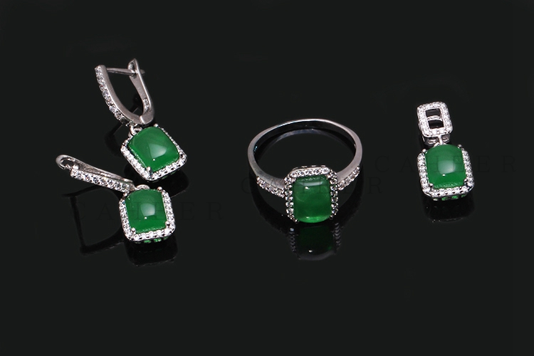 Charming Emerald Jewelry Set K0009S