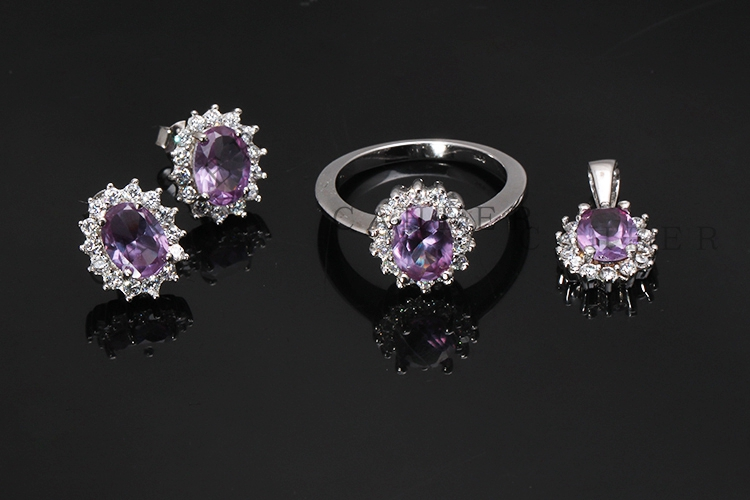 Amethyst Jewelry Set K0010S