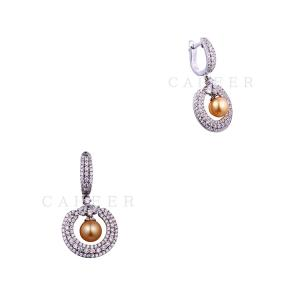 Most Popular Super Quality Women Earrings Golden Pearl Earrings K0033E