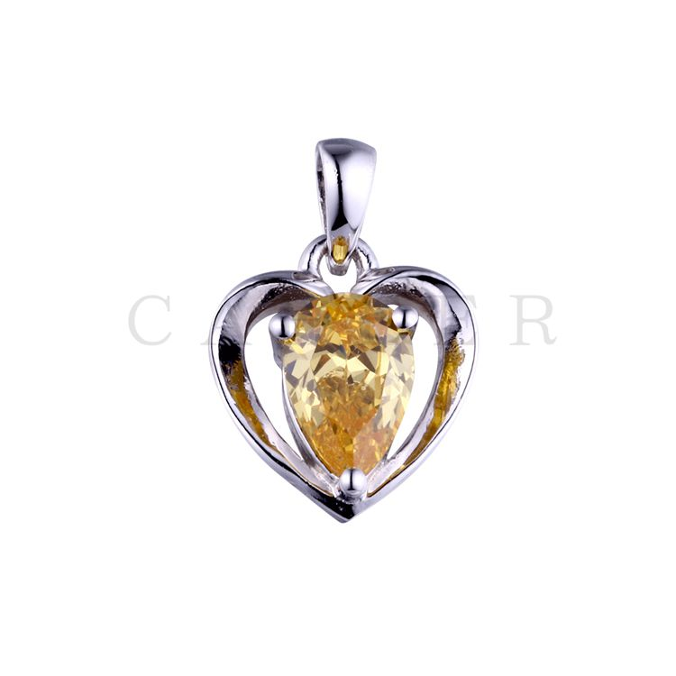 Pear Gemstone Love Pendant K0041P