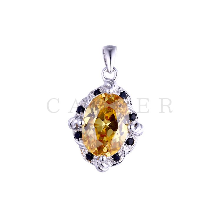 Oval Gemstone Pendant K0041P