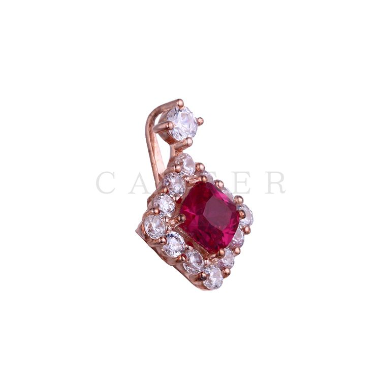 Luxurious Ruby Square Pendant CA0034P