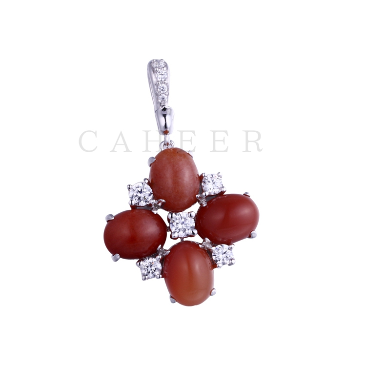 Luxurious Zircon Pendant K0053P