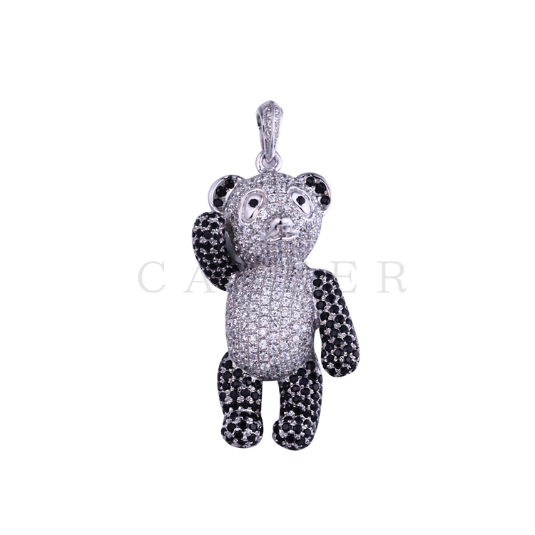 Luxurious Zircon Bear Pendant K0057P