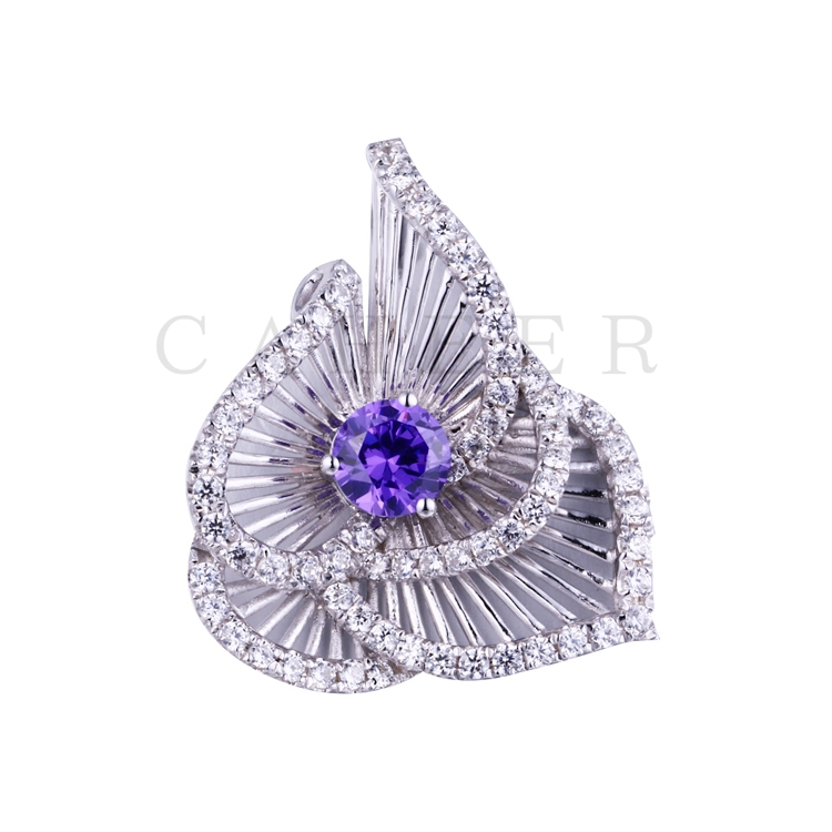 Luxurious Zircon Flower  Pendant K0058P