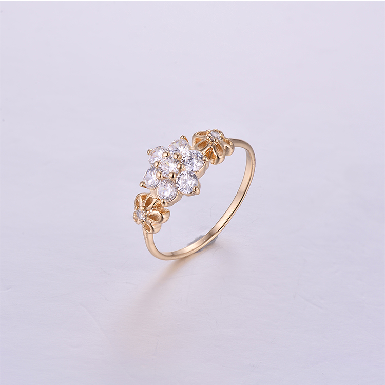 Flower Shape Brass Rings K0220R