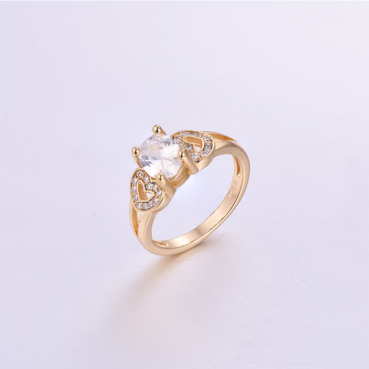 Oval Stone Brass Lady Rings K0222R