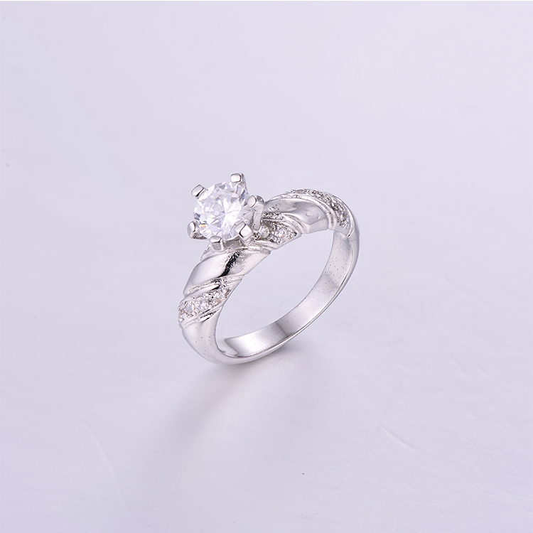 Prong Setting Silver Rings K0229R