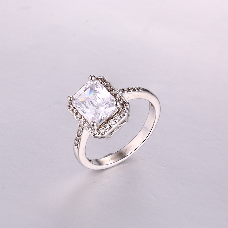 Luxurious Rectangle CZ Ring K0279R