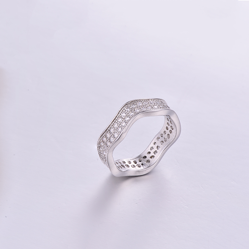 Simple Wave Ring K0282R