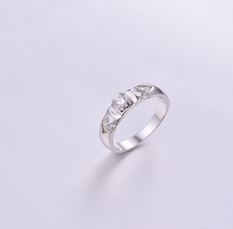 Simple 925 Silver Ring K0284R