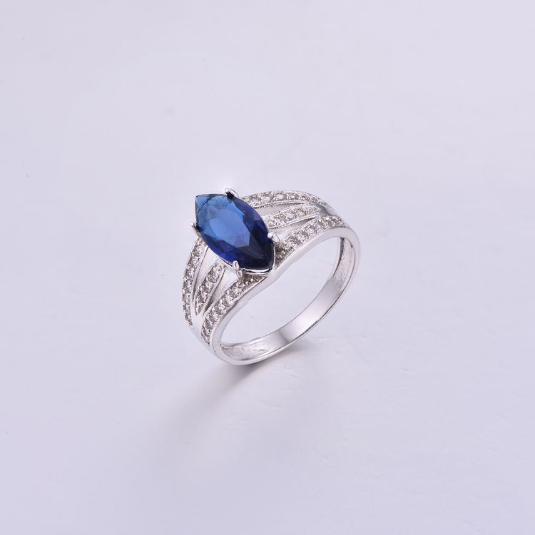 Marquise Sapphire Stone Ring K0361R