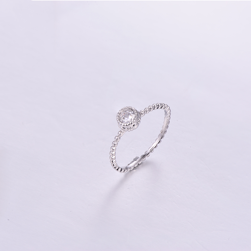 Simple Round CZ Ring K0295R