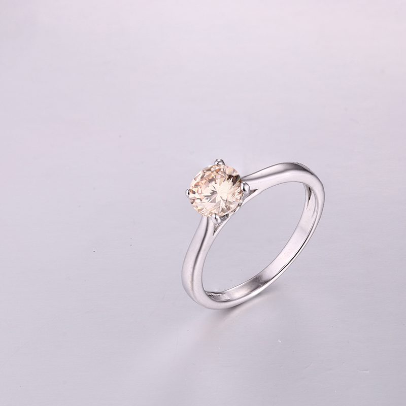 Simple Yellow CZ Ring K0297R