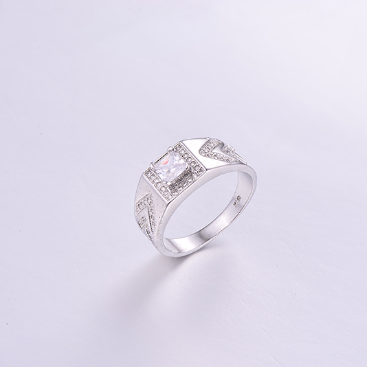 Luxurious Square CZ Mens Ring K0265R