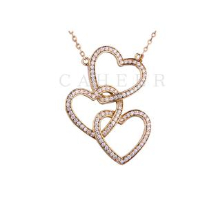 Three Love Zircon Pendant K0034P
