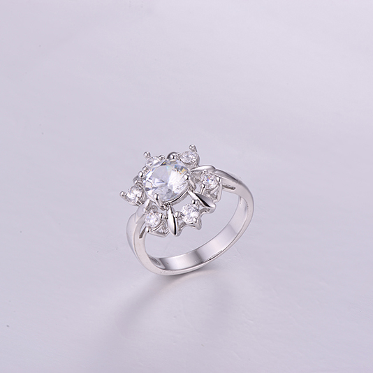 Luxurious Round Gemstone Ring K0262R