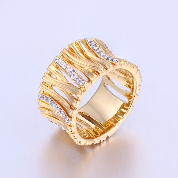 K1000R Plated Gold Ring Women Finger Ring