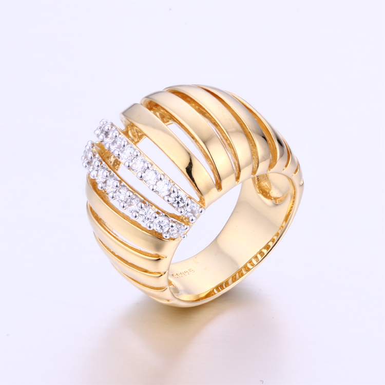 CR1607356 18K Dubai Jewelry New Models Fashion Latest Finger Gold Ring Designs