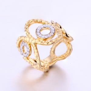CR1607360 Unique 18K Gold Plated Womens Ring Wholesale