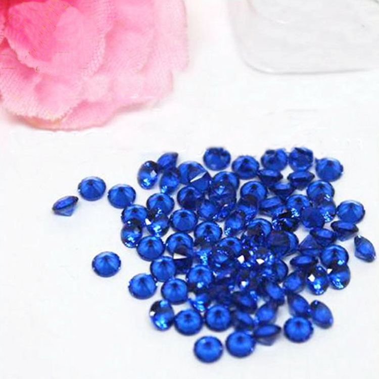 High Temperature Resistant Round Brilliant Cut Nano Blue Sapphire