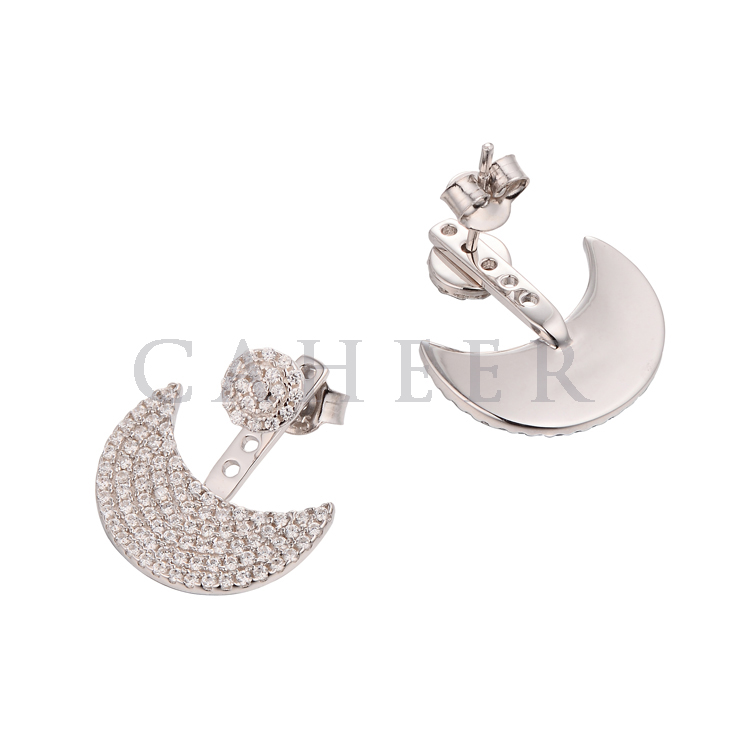 CE1507041 Jewelry Manufacturers America Gold Plated CZ Stone Silver Earring