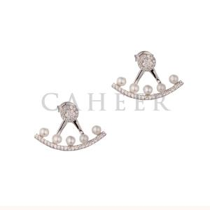 CE1507039 Fashionable Jewelry 925 Sterling Silver Pearl Stick Earring