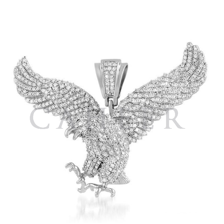 Eagle Men Big Pave CZ Pendant Jewelry